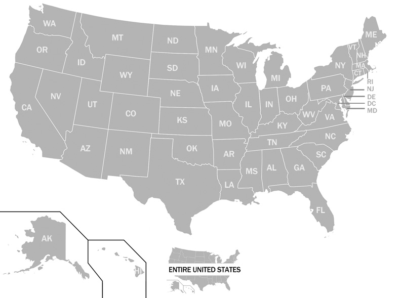 clickable US map