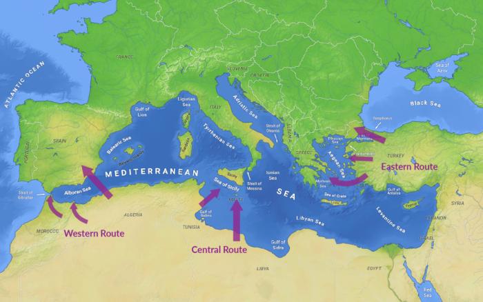 Resultado de la imagen para Abordar el problema de la migración irregular en tierra y mar en el Mediterráneo