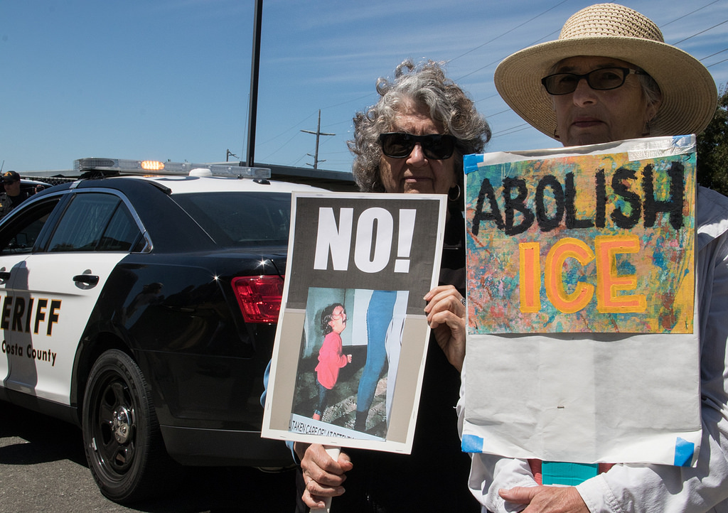 Protest at an immigration detention facility