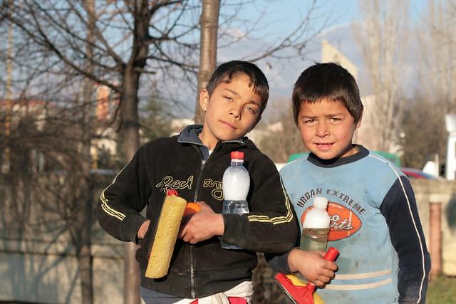 Two Albanian children