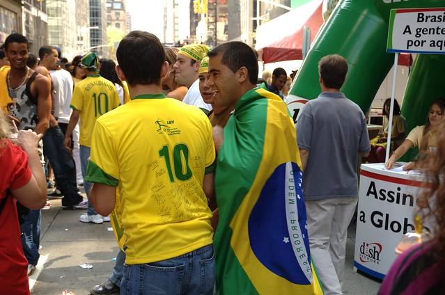 Two Brazilian men standing on a street