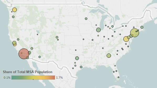 Korean Immigrants In The United States Migrationpolicyorg - Us census buraue interactive map education