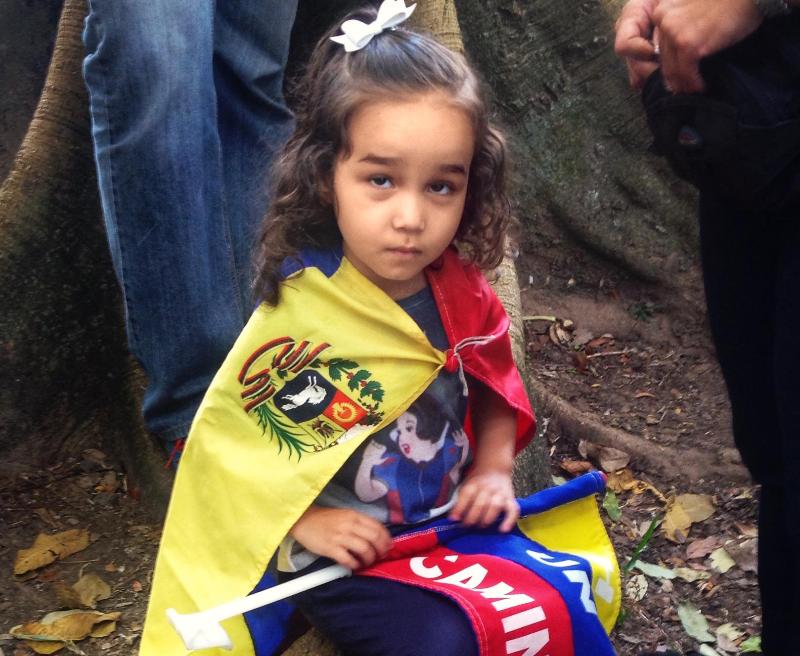 A young Venezuelan girl