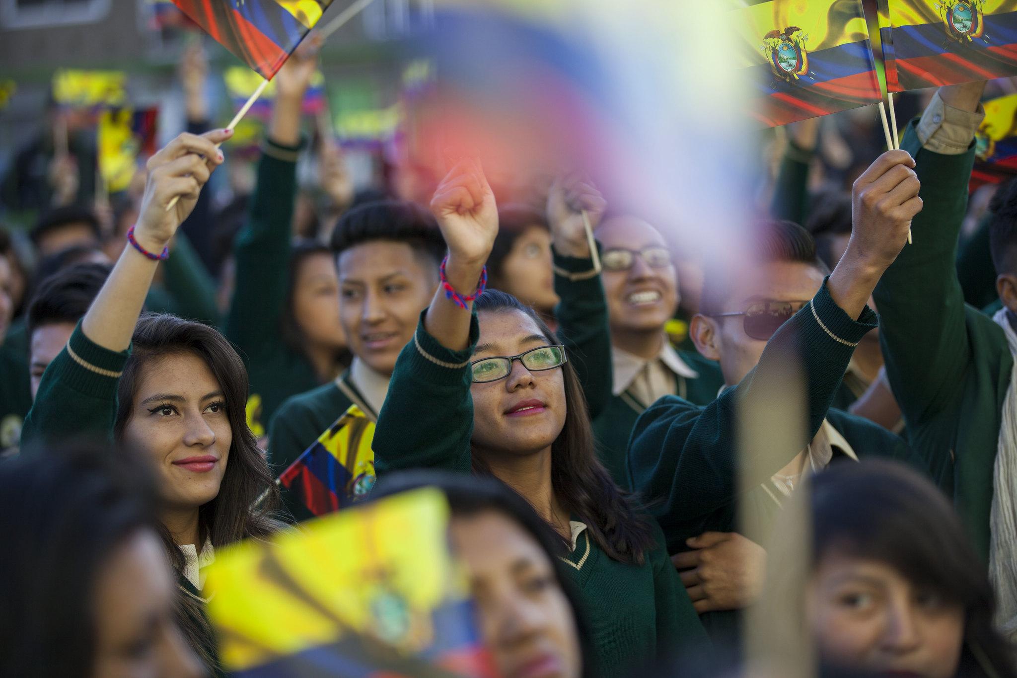An event in Quito for día del Migrante
