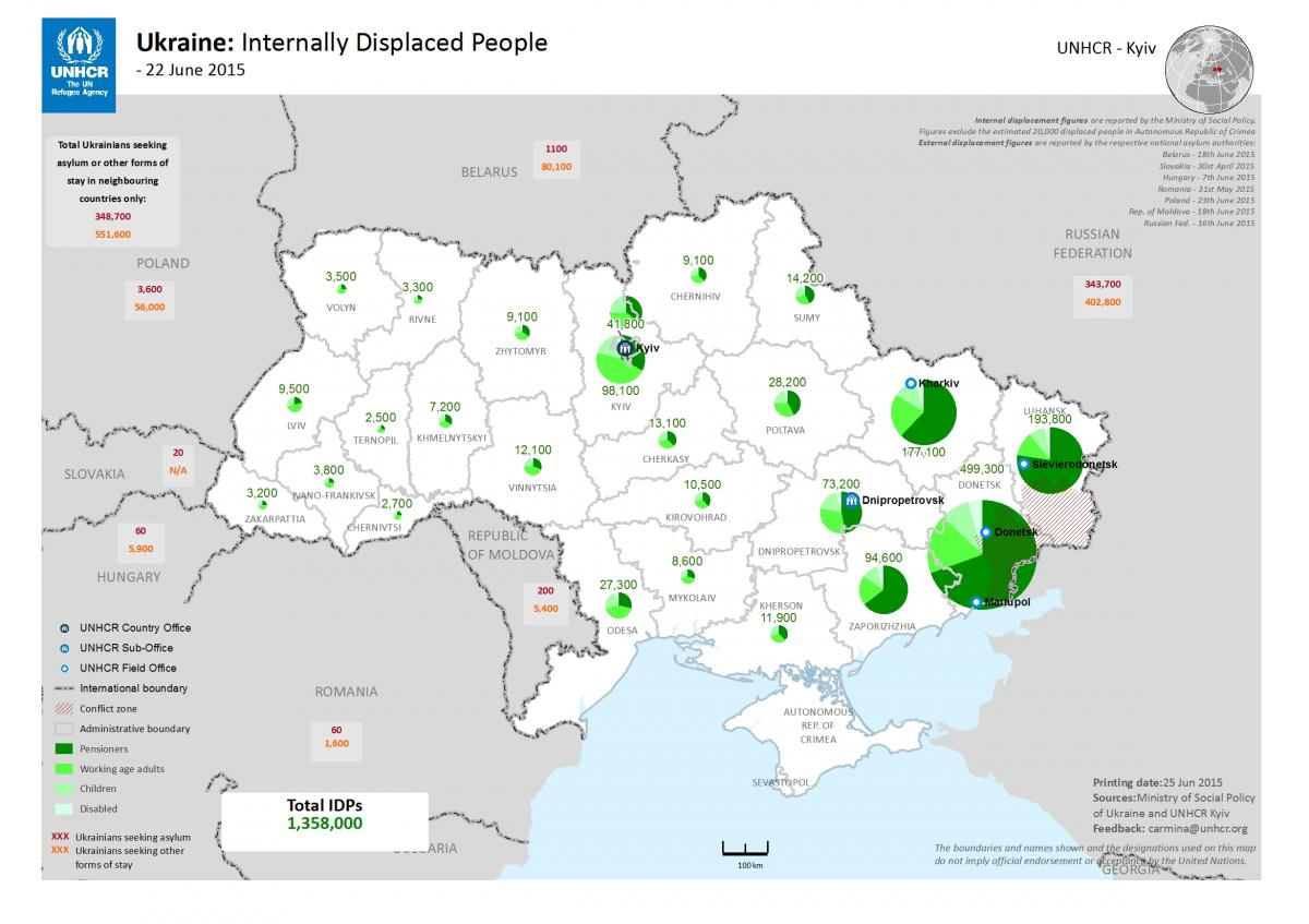 internally displaced persons in ukraine june 2015