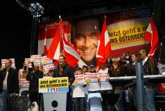 Rally in Austria for RPÖ candidate HC Strache