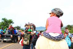 Central American families in Chiapas, Mexico