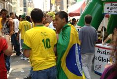 Two Brazilian men standing on a street