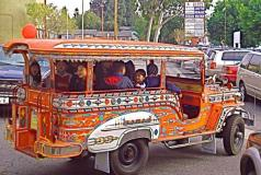 Photo of a Jeepney in LA's Historic Filipinotown neighborhood