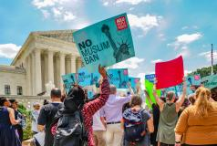 Travel ban protest at the Supreme Court