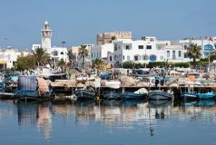 A port in Mahdia, Tunisia.