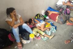 Venezuelans on streets of Cucuta