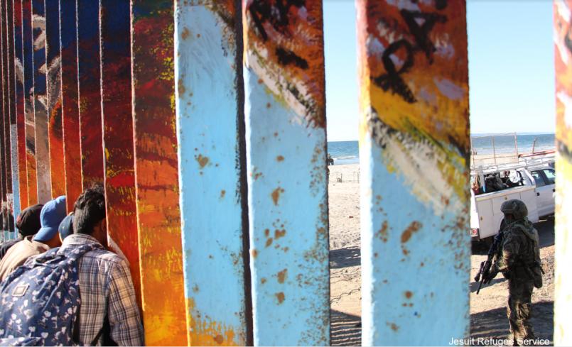 Border fence separating Tijuana, Mexico from San Diego, USA