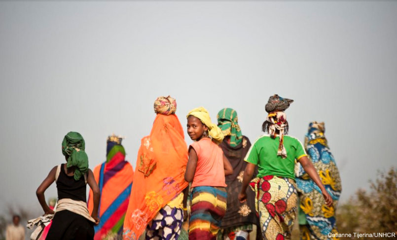 Group of women and girls in Cameroon