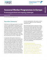 Seasonal Worker Programs in Europe: Promising Practices and Ongoing Challenges