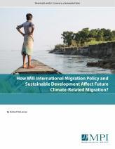 How Will International Migration Policy and Sustainable Development Affect Future Climate-Related Migration?