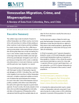 Venezuelan Migration, Crime, and Misperceptions: A Review of Data from Colombia, Peru, and Chile