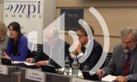 MPI Europe event with five panelists at desk