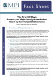 The First 100 Days: Summary of Major Immigration Actions  Taken by the Trump Administration
