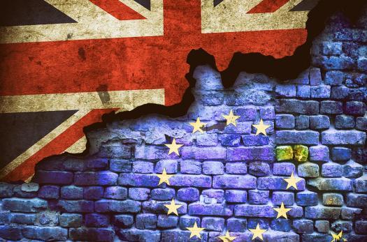 UK and EU flag art
