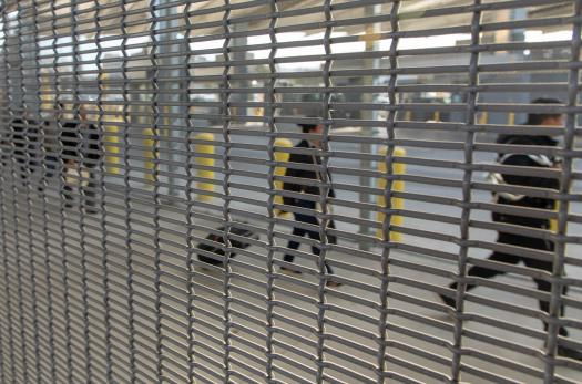 Immigrants being processed at San Ysidro Port of Entry