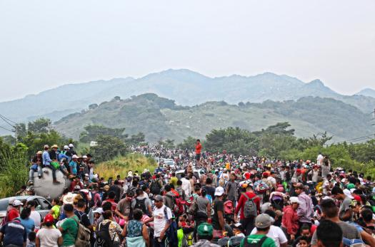 Central American migrants in Chiapas, Mexico