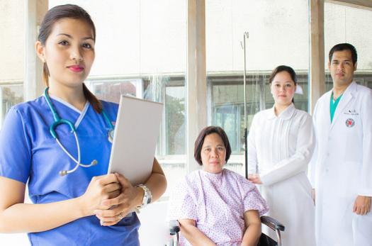 Filipino nurse and patients