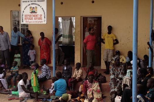 Refugees in the Kakuma refugee camp.