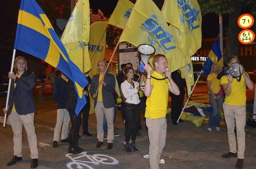 A youth gathering for the Sweden Democrats
