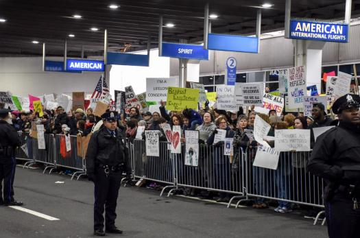 Protest at Philadelphia airport