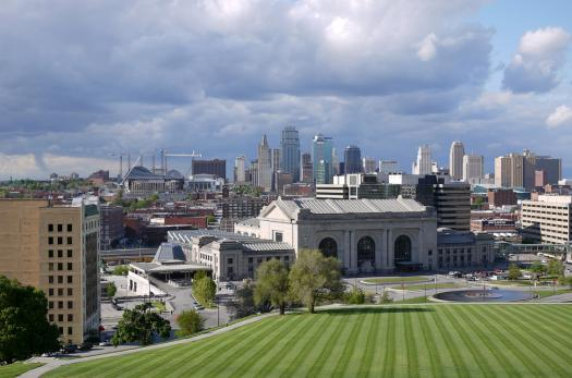 Kansas City skyline.
