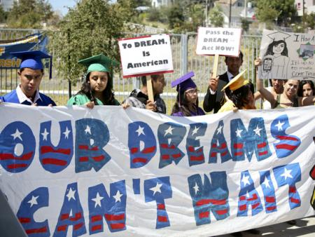 DREAM Act press conference in Los Angeles