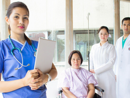 Filipino nurse and patients