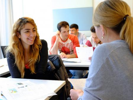 A language class for asylum seekers at the University of Salzburg