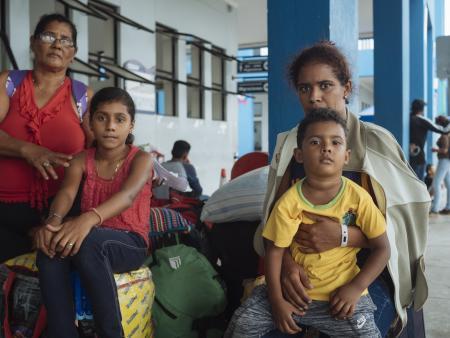 A Venezuelan family in Peru