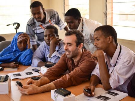 Group training for local enumerators in refugee camps in Dadaab, Kenya.