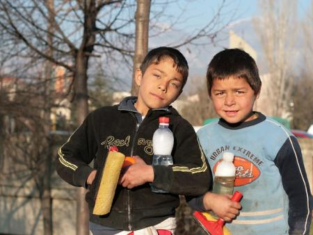 Two Albanian children
