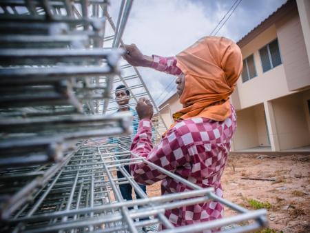 Cambodian worker in Thailand