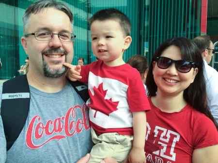 Canadian family on Canada Day