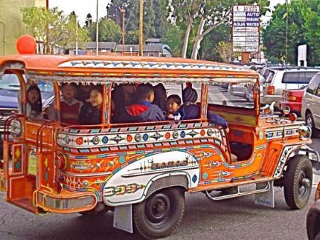 Photo of a Jeepney in LA's Historic Filipinotown neighborhood