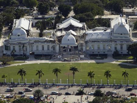 The Haitian National Palace in Port-au-Prince was heavily damaged after the 2010 earthquake.