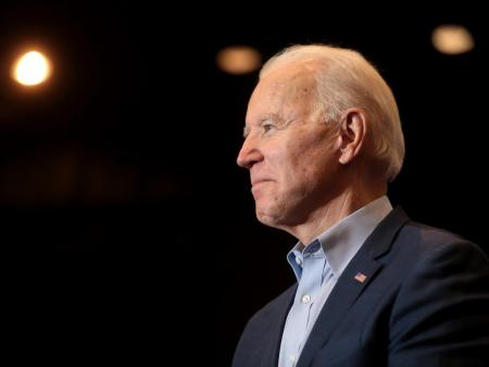 Joe Biden attends a pre-election event in Nevada.